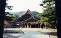 The outer pavilion at Izumo Grand Shrine.